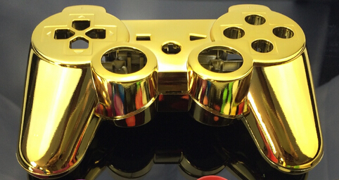 5 sets Custom chrome gold golden color shell for PS3 Controller chrome gold golden Shell Mod Kit without small parts()