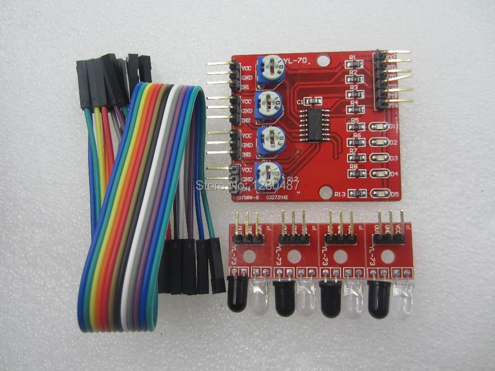 Электронные компоненты 1set /4 4 channel tracking module электронные компоненты a digital 5pcs enc 03mb analog gyroscope module