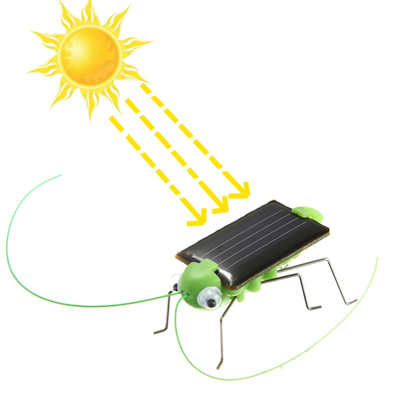 New Educational Solar powered Grasshopper Toy Gadget Model Solar Toy Children Outside Toy Kids Educational Toy Gifts(China (Mainland))