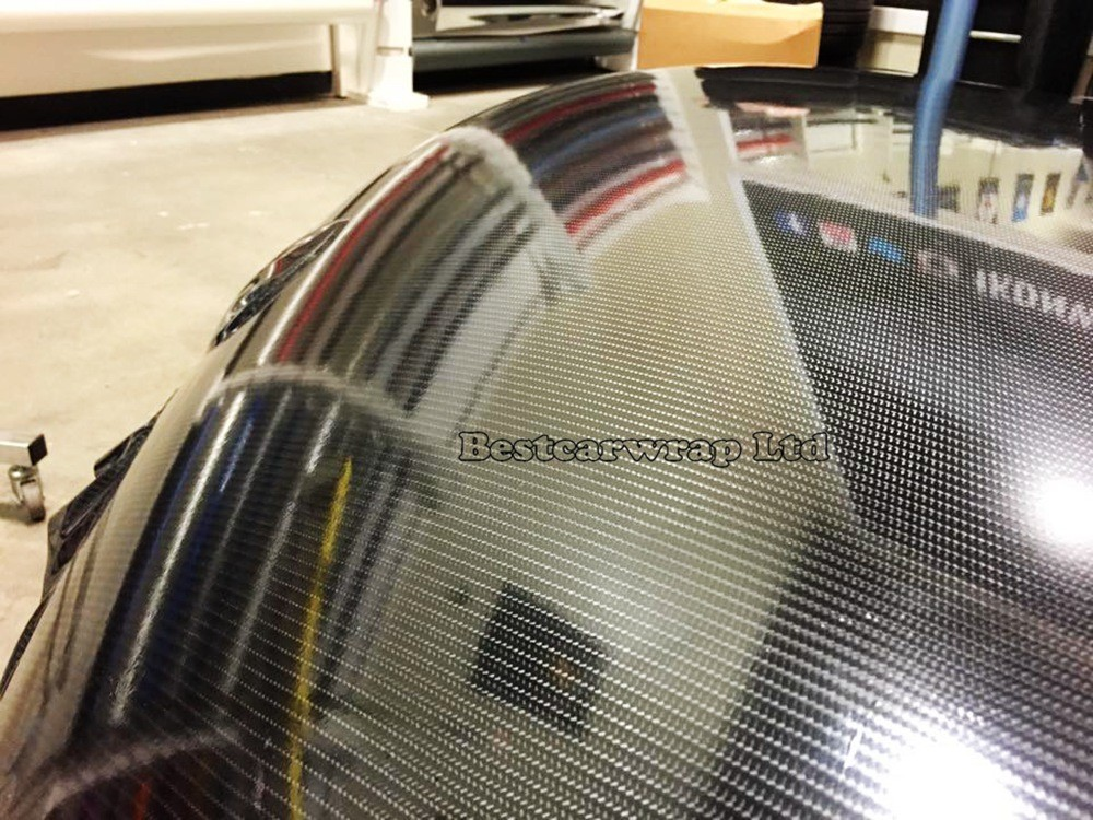 5d carbon black high gloss wrap film with air free carbon shiny wrap 3m (1)