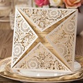 Laser Cut Wedding Invitations Kits Ivory Flowers Party Invitation Cards for Baby Shower Wedding Favors Graduation