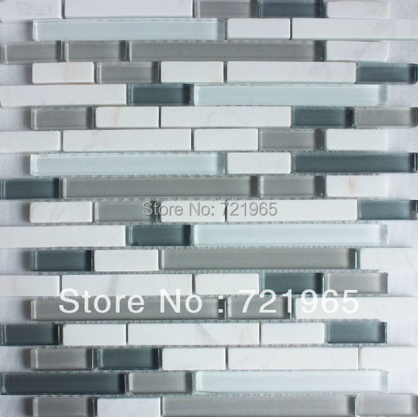 buy white marble tile glass stone mosaic