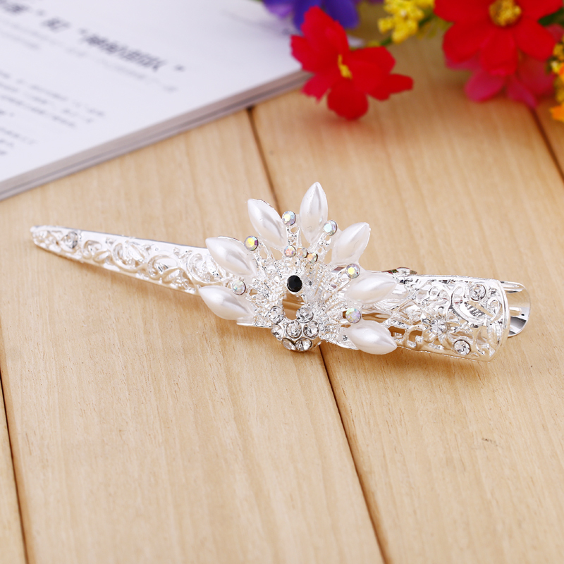 2015 Crystal Flower Rhinestone Hair Pins Hairpin Clip Barrette Twinkling Hairpin Hot hot sale(China (Mainland))
