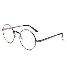 Новые унисекс винтажные круглые очки для чтения, металлическая оправа, Ретро Личность, стиль колледжа, прозрачные линзы, оправа для очков(Китай)
