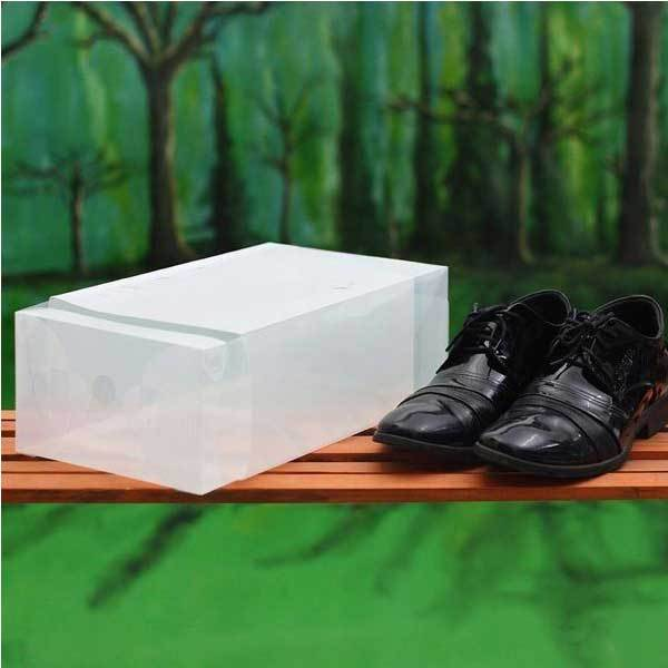 Airsales Plastic Transparent Man Shoebox Storage Box Mouldproof box(China (Mainland))