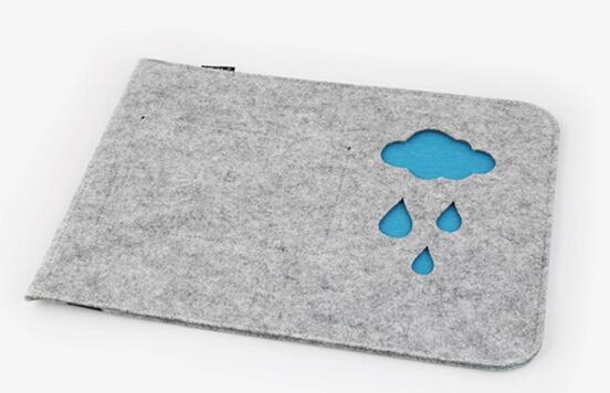 Wool Felt Sleeve For Macbook Air 13.3 Felt Case Rain Clouds For Computer Sleeve Bag Wool Felt Sleeve(China (Mainland))