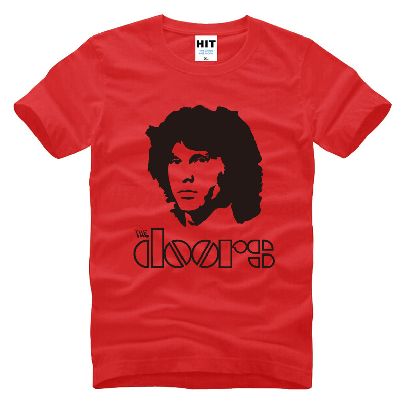 2017 Jim Morrison Men T Shirt Rock Band The Doors T-shirt Men Short Sleeve O Neck Cotton T Shirt Tops Tee Rock Clothing(China (Mainland))