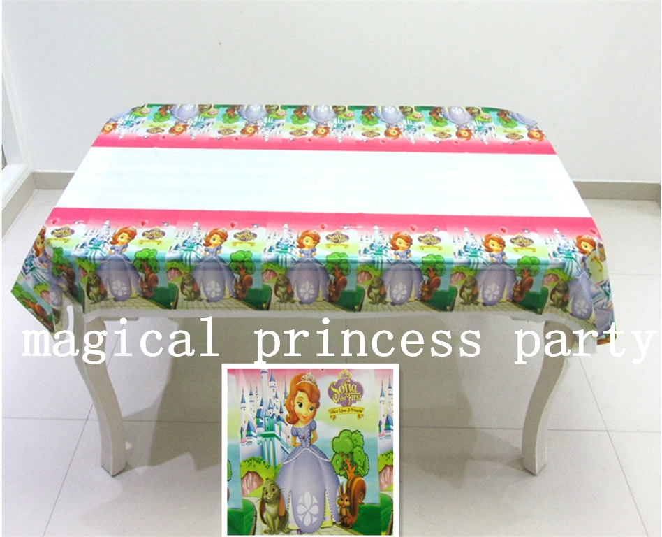 sofia PE rectangle tablecloth for child birthday,party,festival,banquet decoration108*180cm(China (Mainland))