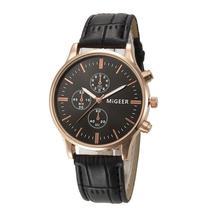 2016 Yoner Watch Fashion Crocodile Faux Leather Mens Analog Watch Wrist Watches