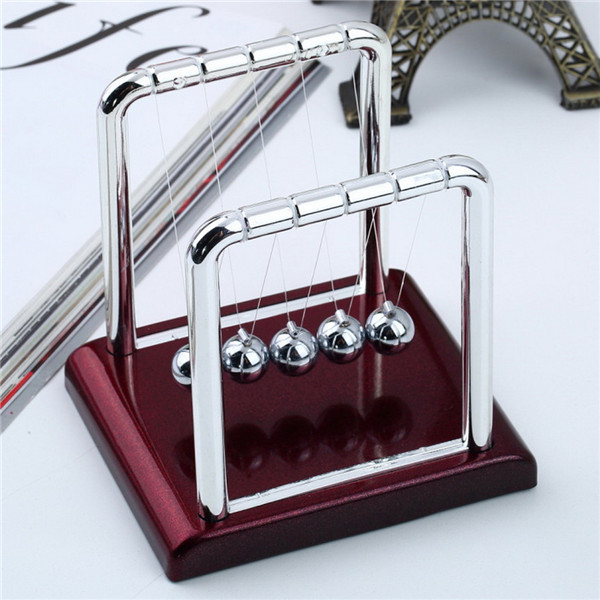 1Pc Early Fun Development Educational Desk Toy Gift Newtons Cradle Steel Balance Ball Physics Science Pendulum Newest(China (Mainland))