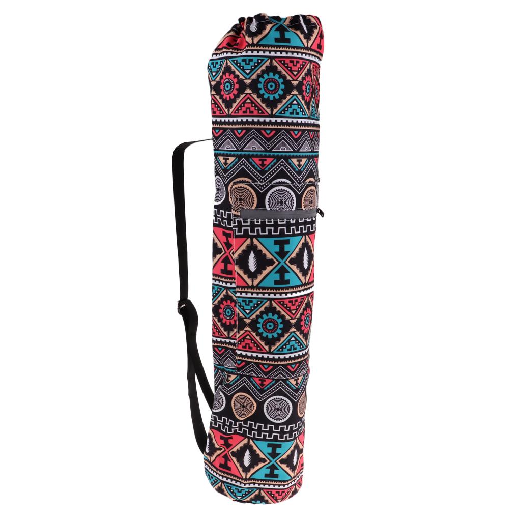 Коврик для йоги сумка спортзала с боковыми карманами прочный холщовый рюкзак Yoga Mat Carrier Gym Bag with Side Pockets Durable Canvas Carry Strap Drawstring Backpack for Yoga Pilates Gym Fitness Training