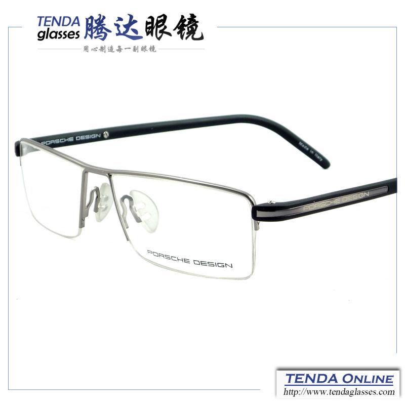 Metal Half Rim Branded Fashion Glasses Men Eyewear Prescription Spectacles Eyeglasses Myopia & Reading(China (Mainland))