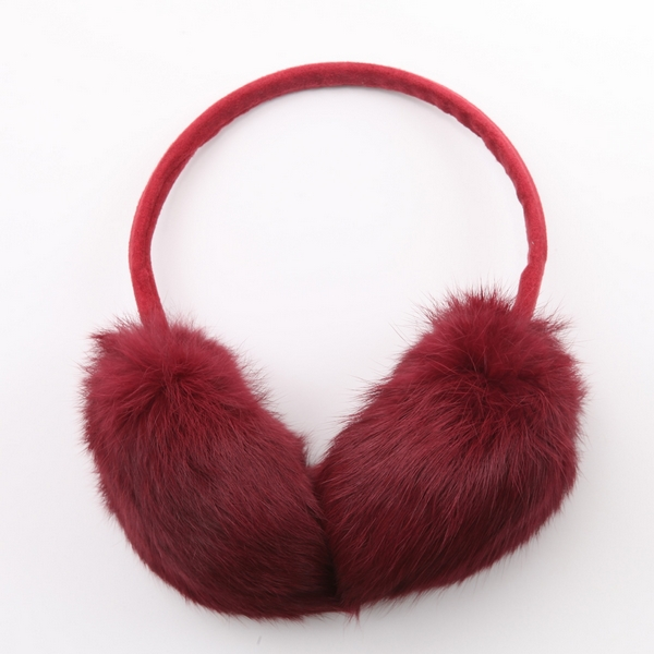 NEW Classy Ear warmer cover Fluffy EARMUFFS Rabbit Fur winter warm headband Adjustable Lenght(China (Mainland))