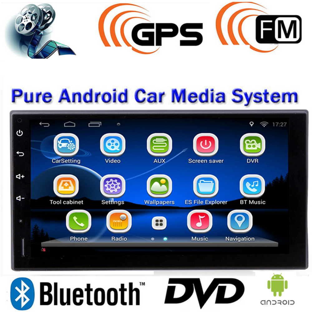 1 2 Din Android 4.4 Car DVD MP3 MP4 Player 7 inch TFT 3G Wifi GPS for Bluetooth FM/AM Radio GMes Video Output Touch Screen(China (Mainland))