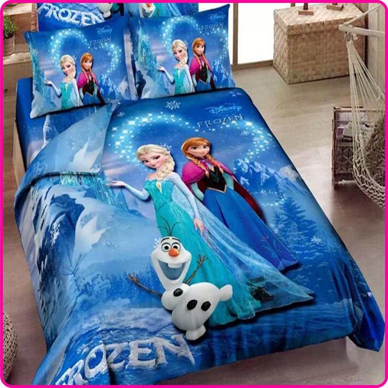China Wholesale 3D Cartoon Kids/Adult Elsa Anna Comforter Bedding Sets Duvet Quilt Cover Bed Sheet Queen King Size(China (Mainland))