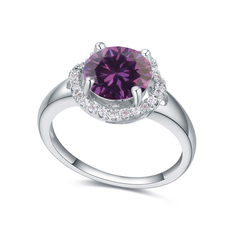 new Luxury Crystal Ring fashion woman sell well love life ring plated gold CZ Ring 110738(China (Mainland))