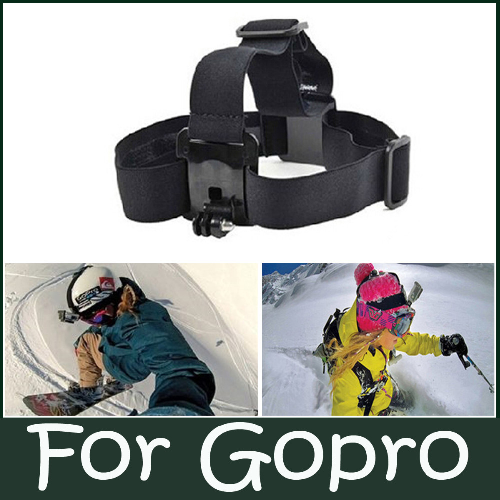 Black GO PRO Accessories Camera Harness Adjustable Head Strap Mount Headband with Plastic Buckle For GoPro HD Hero 1/2/3/4(China (Mainland))