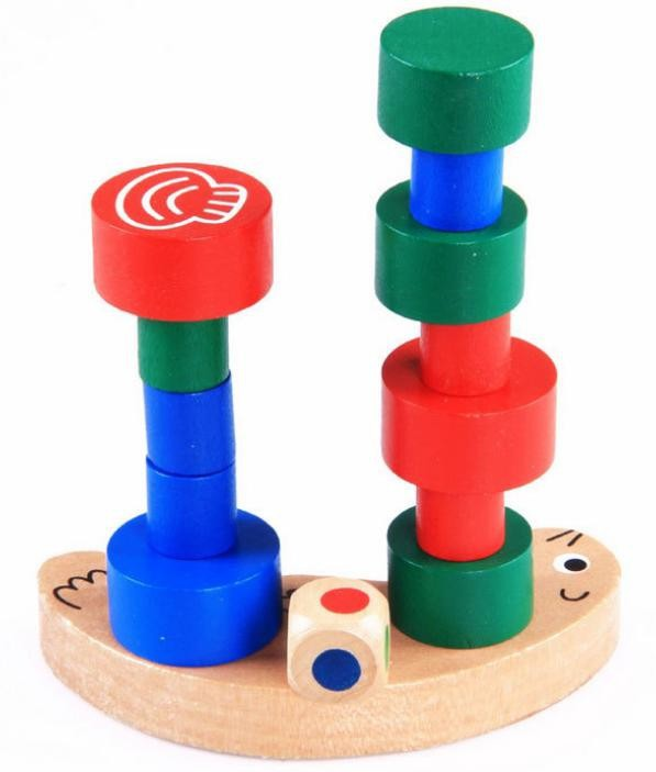 Small Size Snail Balance and Stacking Blocks Parenting Children Wooden Toys(China (Mainland))