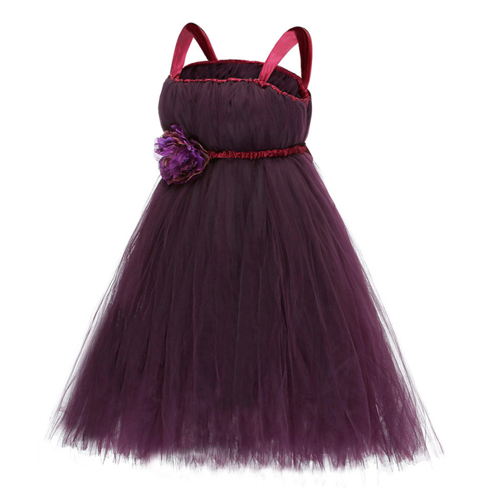 popular dark purple flower girl dressbuy cheap dark