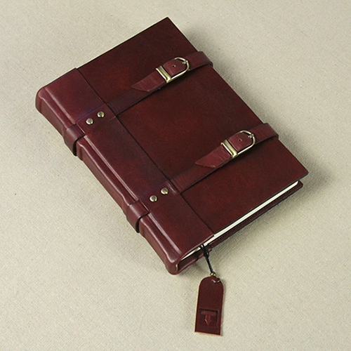 handmade high-end portable retro vegetable-tanned leather cowhide this subsection travel notepad in leaf notebook thicken