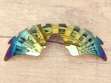 Polycarbonate 24K Golden Mirror Replacement Lenses For M Frame Sweep Vented Sunglasses Frame 100 UVA UVB