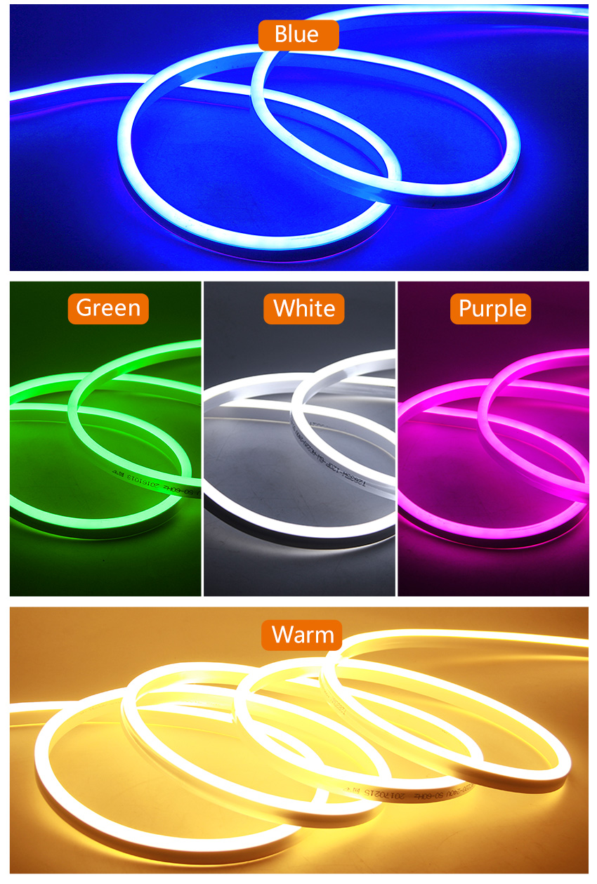 Soft LED Neon Lights DC 12V Flexible Waterproof Outdoors Light Strip For Decorate Square Garden Highway Building