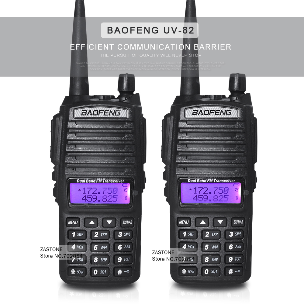 2pcs/lot New Design Handheld Walkie Talkie BaoFeng UV-82 Dual Band 136-174MHz&400-520MHz with Double PTT Button radio UV82(China (Mainland))
