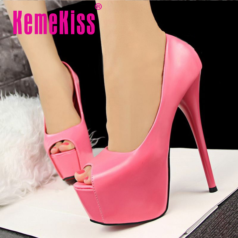 brand quality ultra thin high heels shoes women peep open toe party shoes fashion platforms heeled pumps shoes size 34-39 WC0040<br><br>Aliexpress