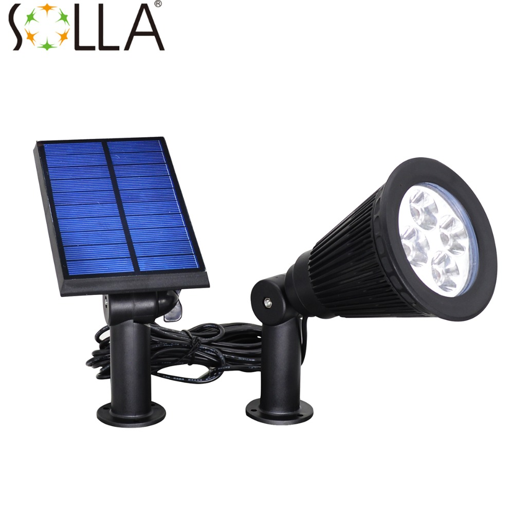 Outdoor Solar Lights In Ground: HOT LED Solar Spotlight Outdoor Wall Lights Ground Lights