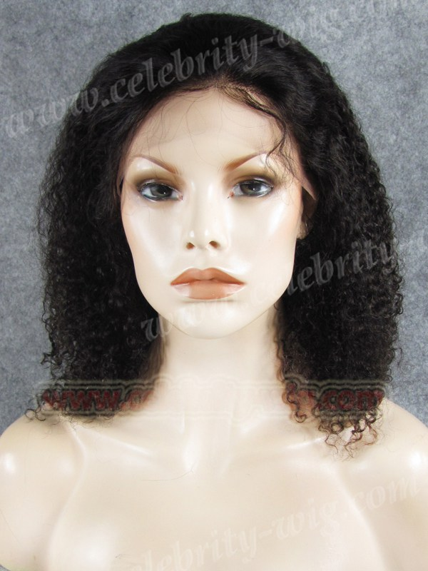 Natural Black Bounce Curl human hair lace front wig<br><br>Aliexpress