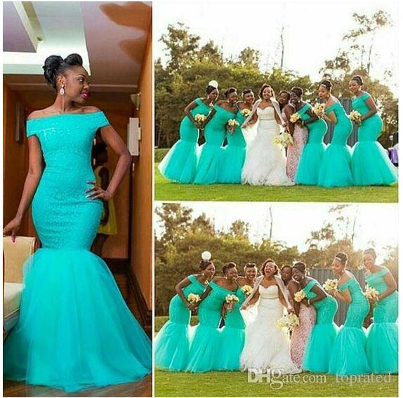 Buy african lace bridesmaid dresses 2015 one shoulder fall for African lace wedding dress