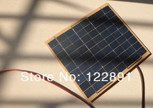 Wholesale 5Watt 5W 18V Solar Panel Solar Cell -5 WFor 12 Volt Garden Fountain Pond Battery Charger+Diode 6pcs/lot Free Shipping(China (Mainland))