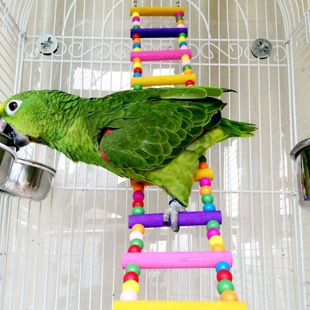 New Hot Parrot Bird Toys Wood Climing Ladder Swing China Bird Toys Pet Parrot Product Accessories Free Shipping(China (Mainland))