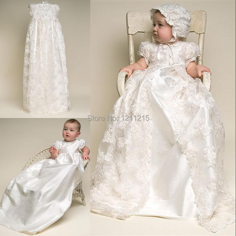 Vestidos Infantis Pageant Formal Gowns Satin And Lace Jewel Short Sleeve Jacket Custom Christening Gowns Prom Dress Childern(China (Mainland))