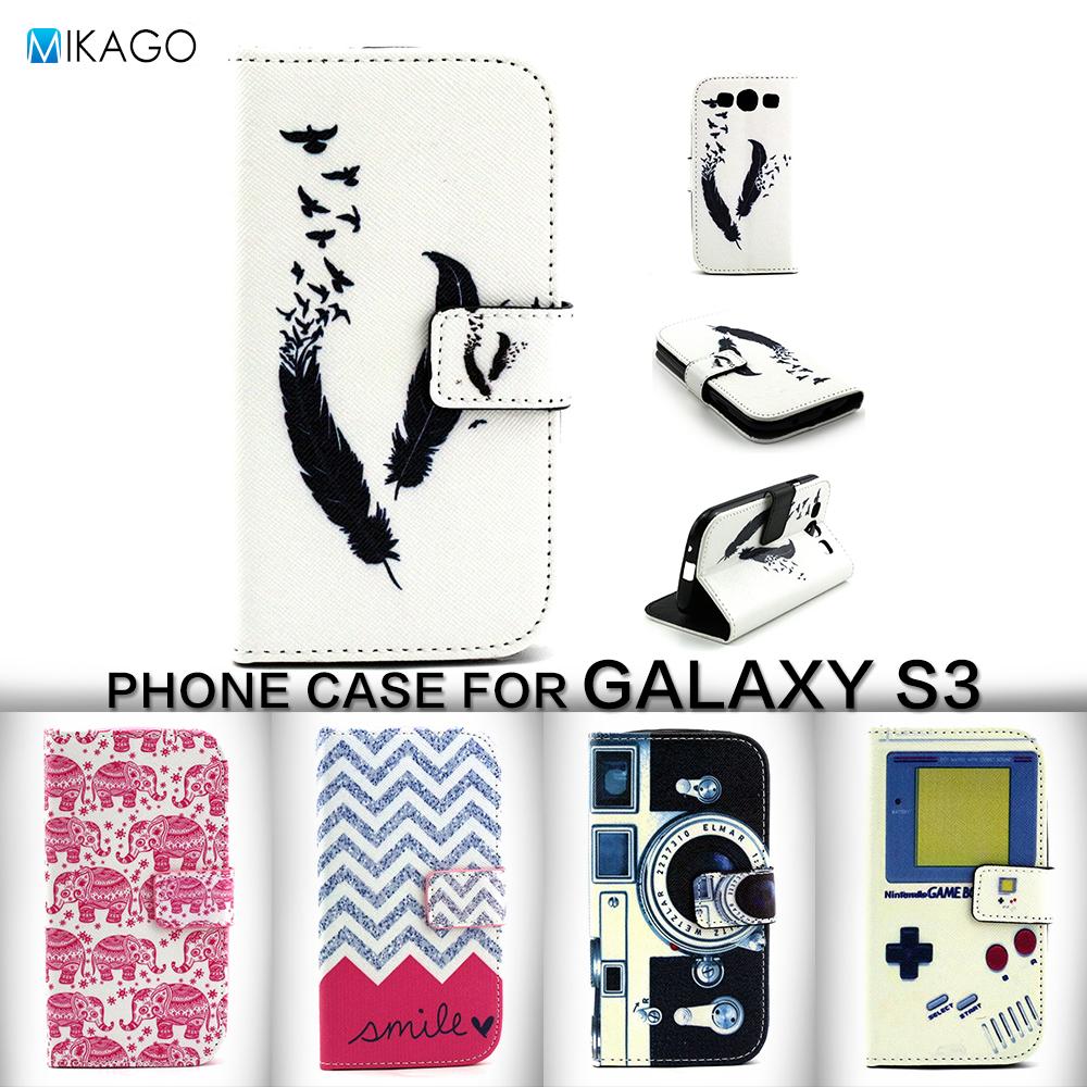 wallet & card slots PU Lfor Samsung Galaxy S3 i9300 Case For Samsung Galaxy S3 i9300 mobile Phone Cover Case(China (Mainland))