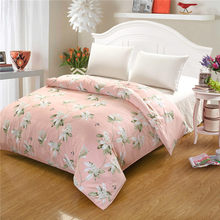 Flowers Printed 100% Cotton Bedding Duvet Cover cartoon colorful all kind of flower Twin Queen King Size Rural style Bedclothes(China)