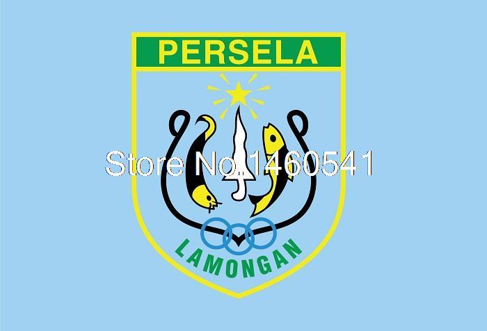 produto Persela Lamongan 3ft x 5ft Polyester Soccer League Banner 144* 96cm Custom Flag Persatuan Sepak Bola Lamongan
