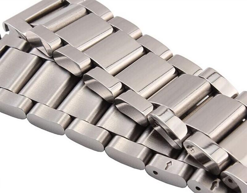 Металла, Нержавеющей стали Высокого качества Polished Solid Ссылка Металл Смотреть Band 18 мм 20 мм 22 мм 24 мм для мужские часы мода развертывания