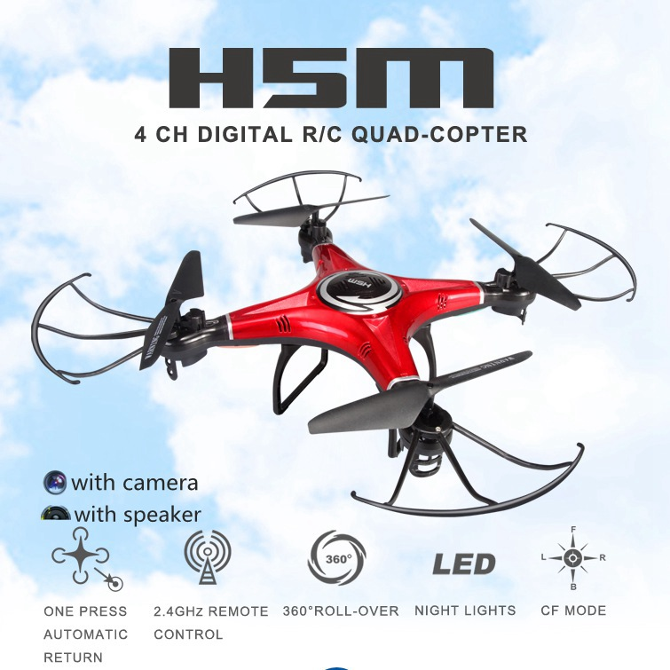 Music Drones With Camera Hd Jjrc H5m Quadcopters With Speaker Rc Hexacopter Professional Rc Dron Flying Helicopter Camera Copter(China (Mainland))