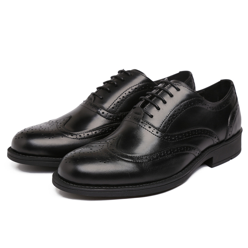 Fashion black /brown tan oxfords shoes mens dress shoes genuine leather business shoes mens formal work shoes free shipping <br><br>Aliexpress