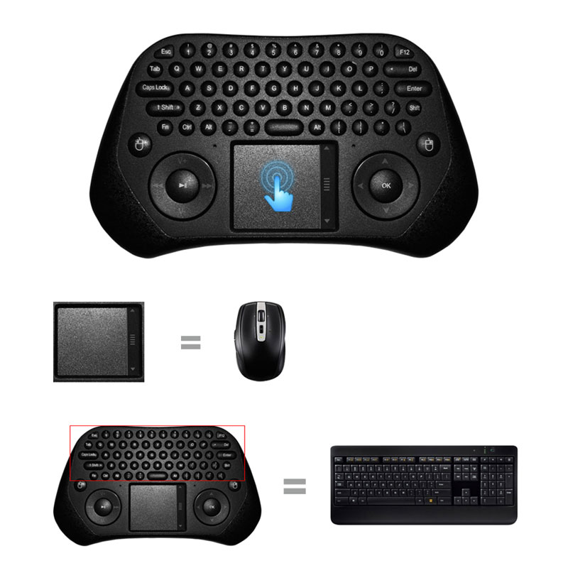 Measy GP800 USB Wireless Touchpad Air Mouse Keyboard Android PC Smart TV High Quality(China (Mainland))