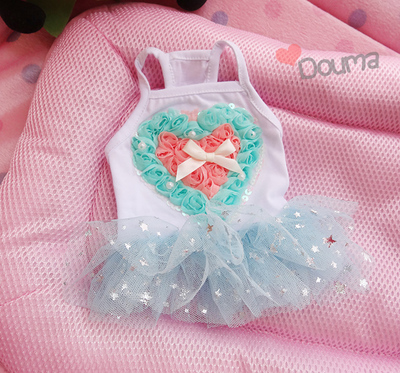 Heart Pet Skirts King Beauty Dog Clothes Dress Summer sale Dog Clothes for Dogs Products for Cats Dog clothes PC1000168(China (Mainland))