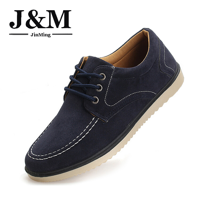 Men Shoes New Brand 2015 Mens Casual Suede Man Fashion Lace-u Low top Flats - JM fashion shoes store