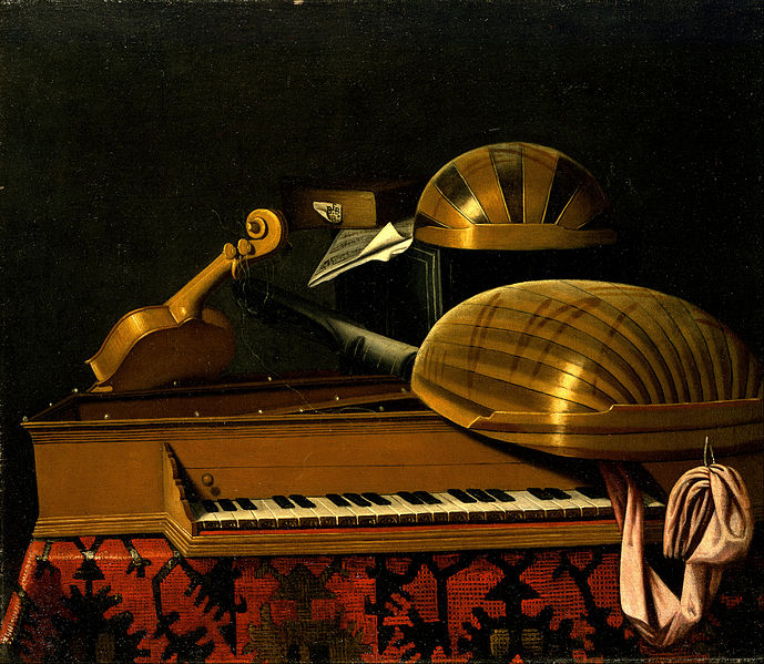 Canvas Art Prints Wall Decor Giclee Oil Painting Bartholomeo Bettera - Still Life With Musical Instruments And Books(China (Mainland))