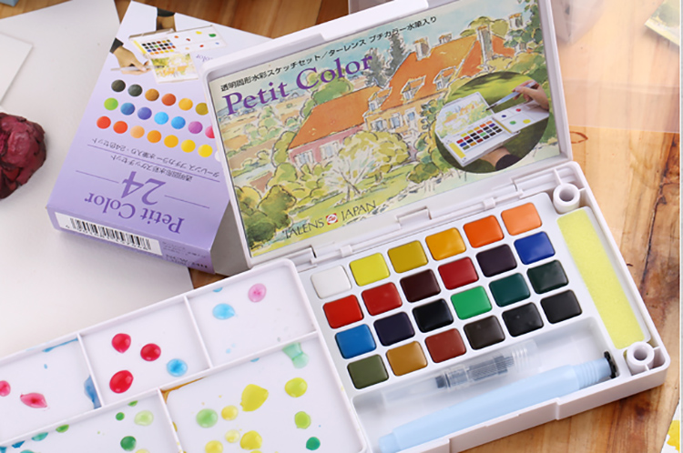 Sakura Solid Water Color 18\24\30 colors well packaged watercolor set,good partner of watercolor pen<br><br>Aliexpress