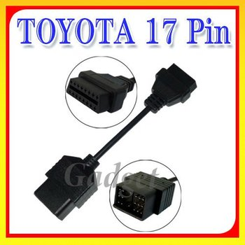 17 Pin to 16 Pin OBD OBD2 Adapter Cable For Toyota
