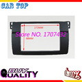 High quality Double 2 Din Fascia For BMW 3 Series E46 1998 2005 Radio DVD Stereo