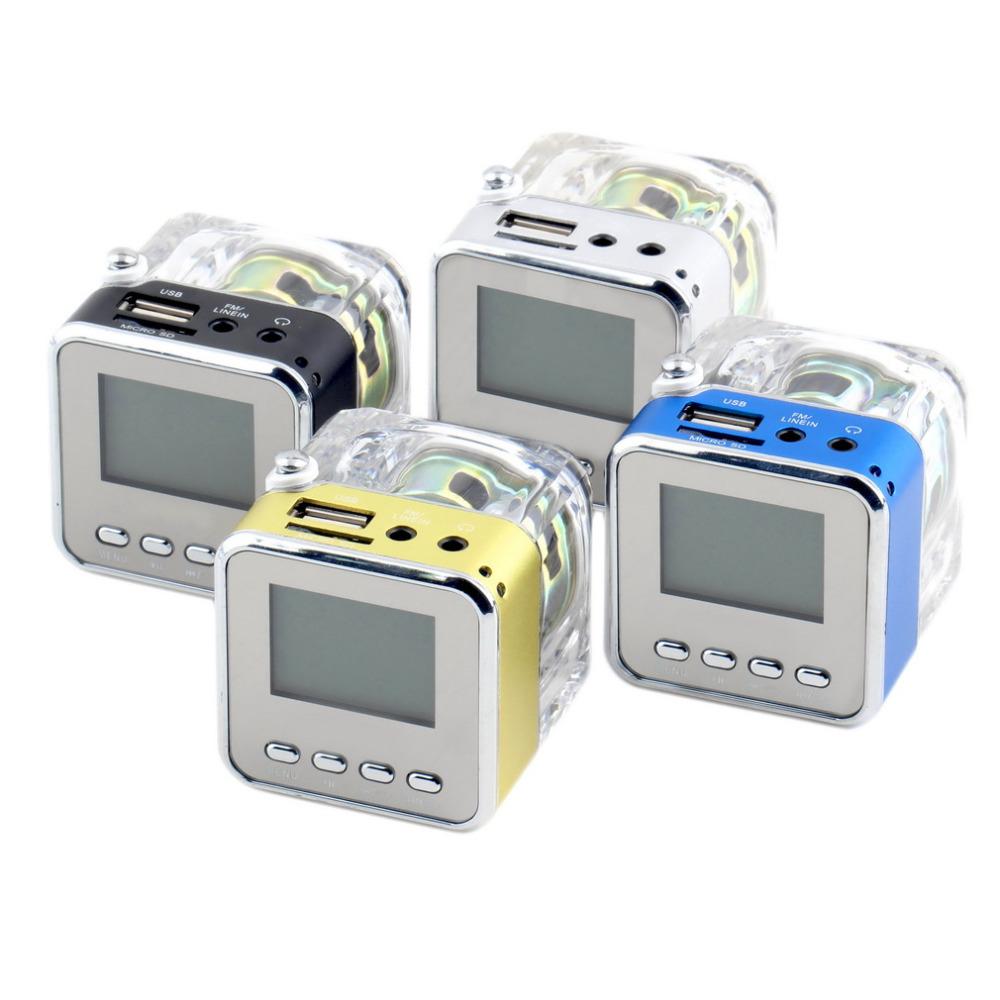 1 set Blue LCD Rechargeble Mini Speaker HiFi Music MP3/4 Player Micro SD/TF USB Disk FM Radio Newest(China (Mainland))