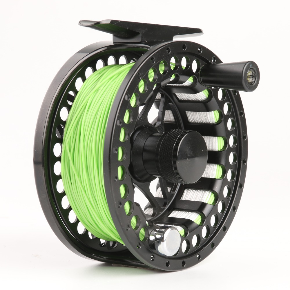 Free shipping MC5 7 Weight Large Arbor CNC Fly Reel And IM12 9FT 5WT 4PCS Skyhigh