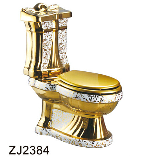 Gold plated titanium color gold toilet toilet ZJ2384(China (Mainland))